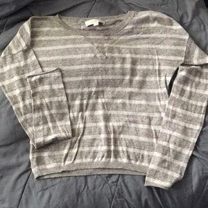 LOFT Grey Cotton Sweater